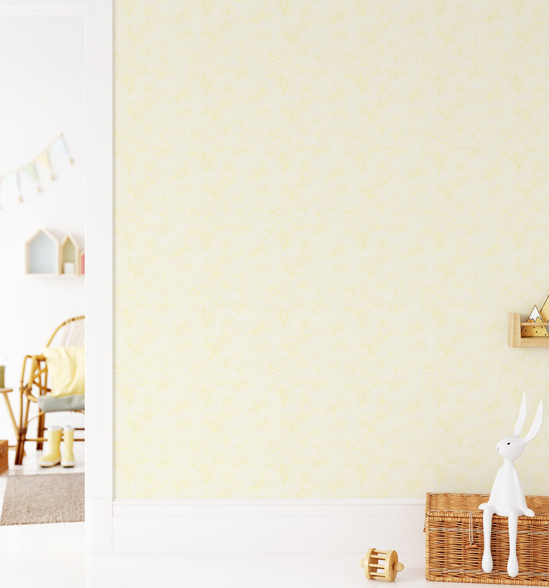 Little Arches in Yellow Wallpaper - Olive et Oriel