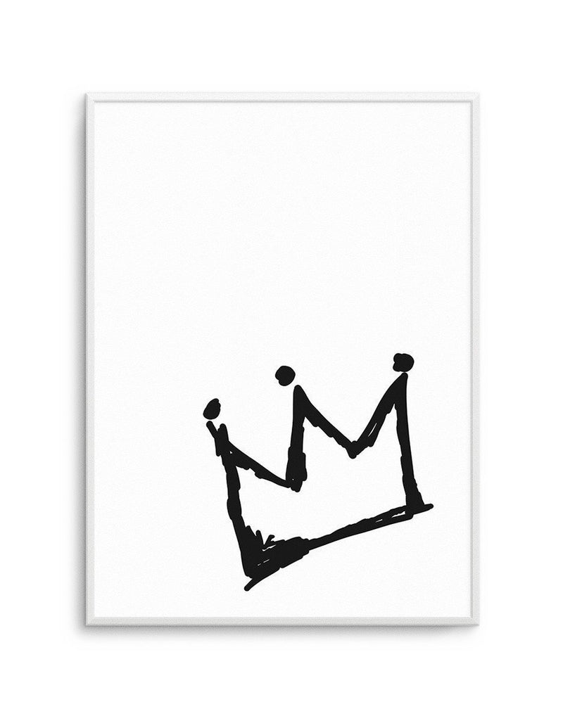 Little Crown | 2 Colour Option - Olive et Oriel | Shop Art Prints & Posters Online
