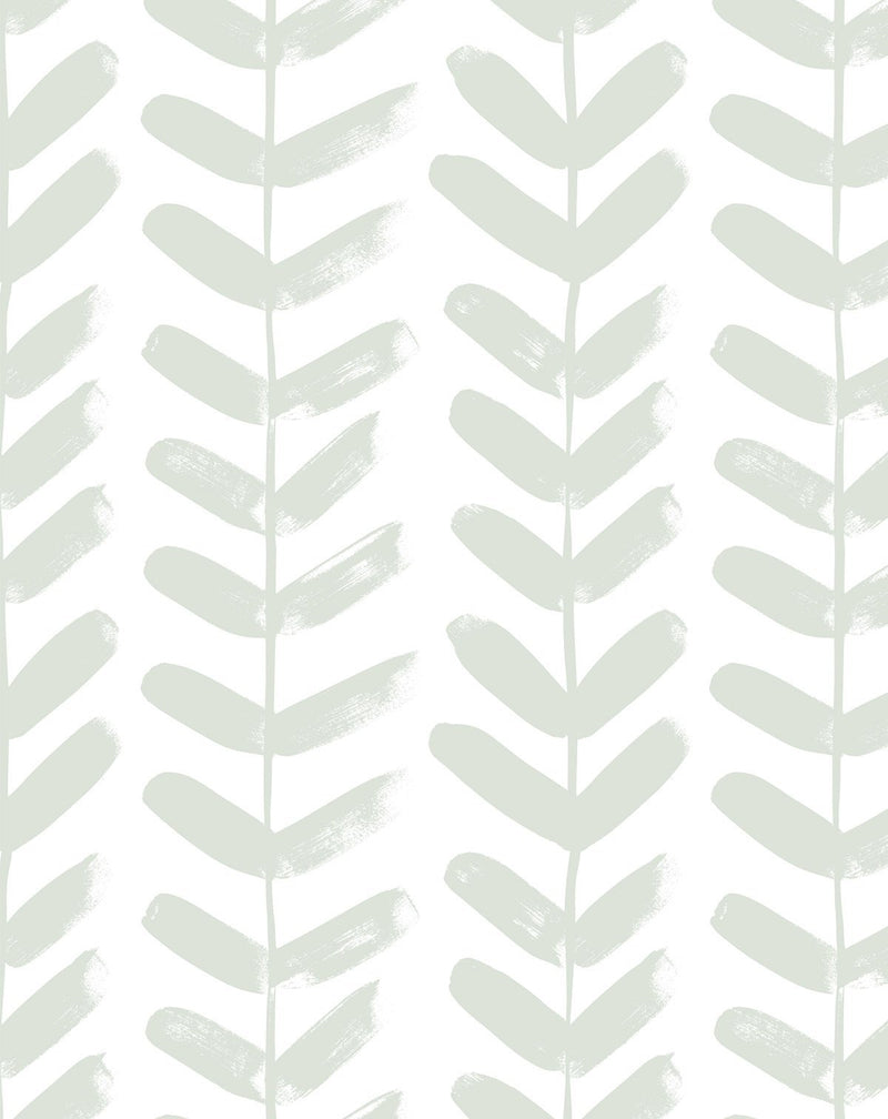 Little Leaf in Sage Wallpaper - Olive et Oriel