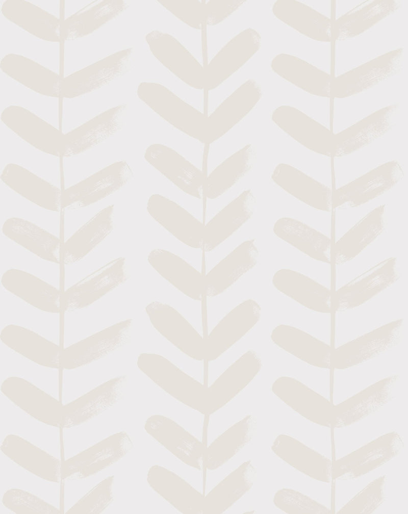 Little Leaf in Sand Wallpaper - Olive et Oriel