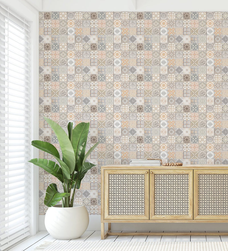 Little Moroccan Tiles Wallpaper - Olive et Oriel