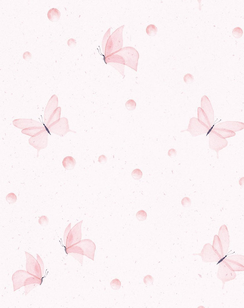 Little Pink Butterflies Wallpaper - Olive et Oriel