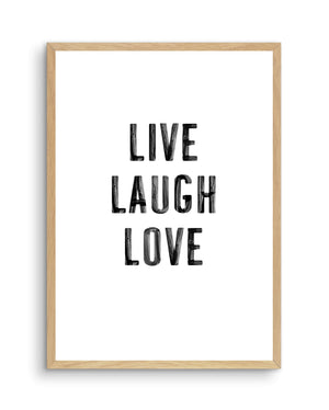 Live Laugh Love | 3 Colour Options - Olive et Oriel | Shop Art Prints & Posters Online