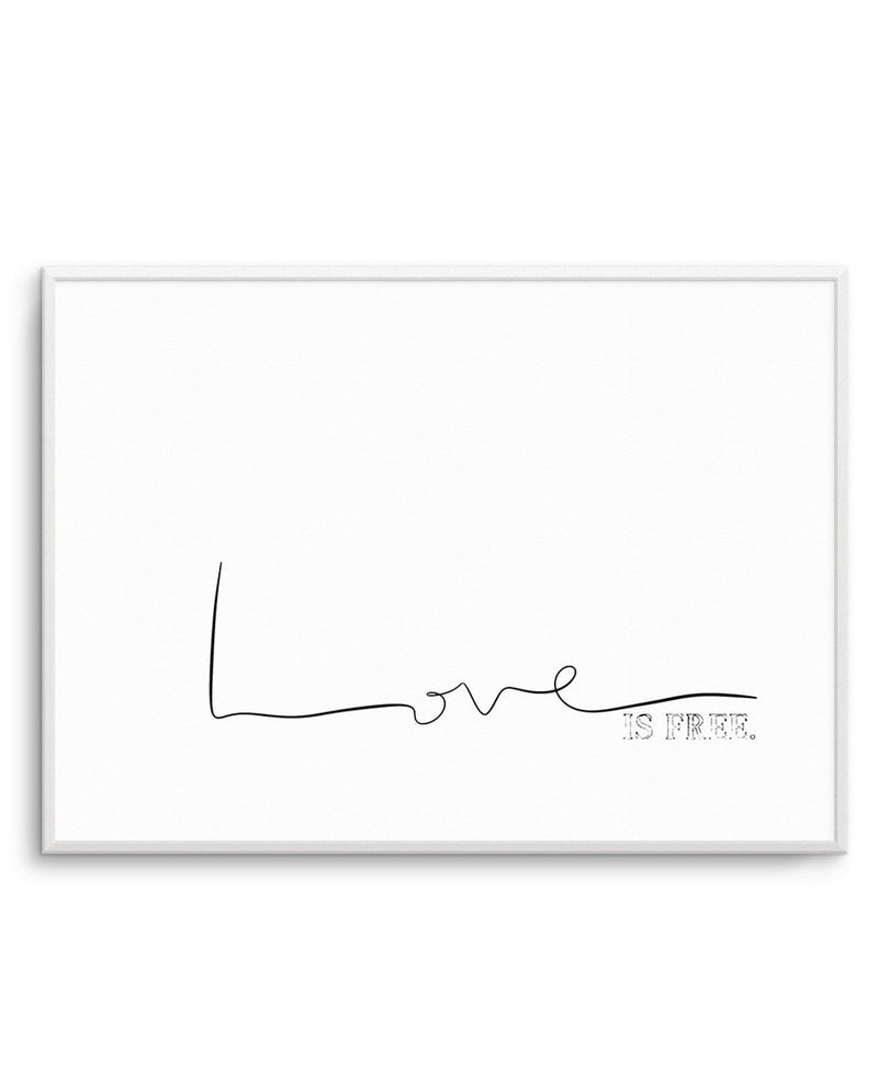 Love Is Free - Olive et Oriel | Shop Art Prints & Posters Online