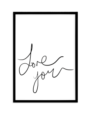 Love You | Hand Scripted - Olive et Oriel | Shop Art Prints & Posters Online
