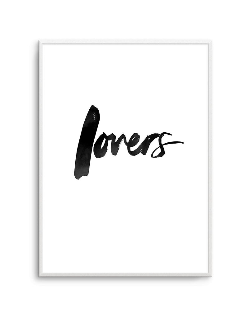 Lovers | Brushscript - Olive et Oriel | Shop Art Prints & Posters Online