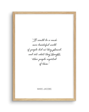 Marc Jacobs Quote - Olive et Oriel | Shop Art Prints & Posters Online