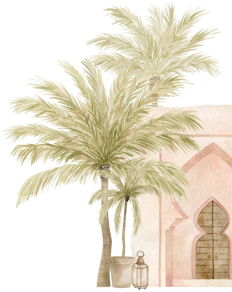 Marrakech Palms Wallpaper Mural - Olive et Oriel