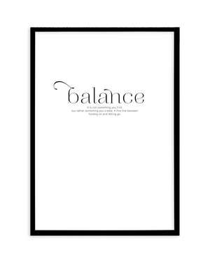 Meaning Of Balance - Olive et Oriel