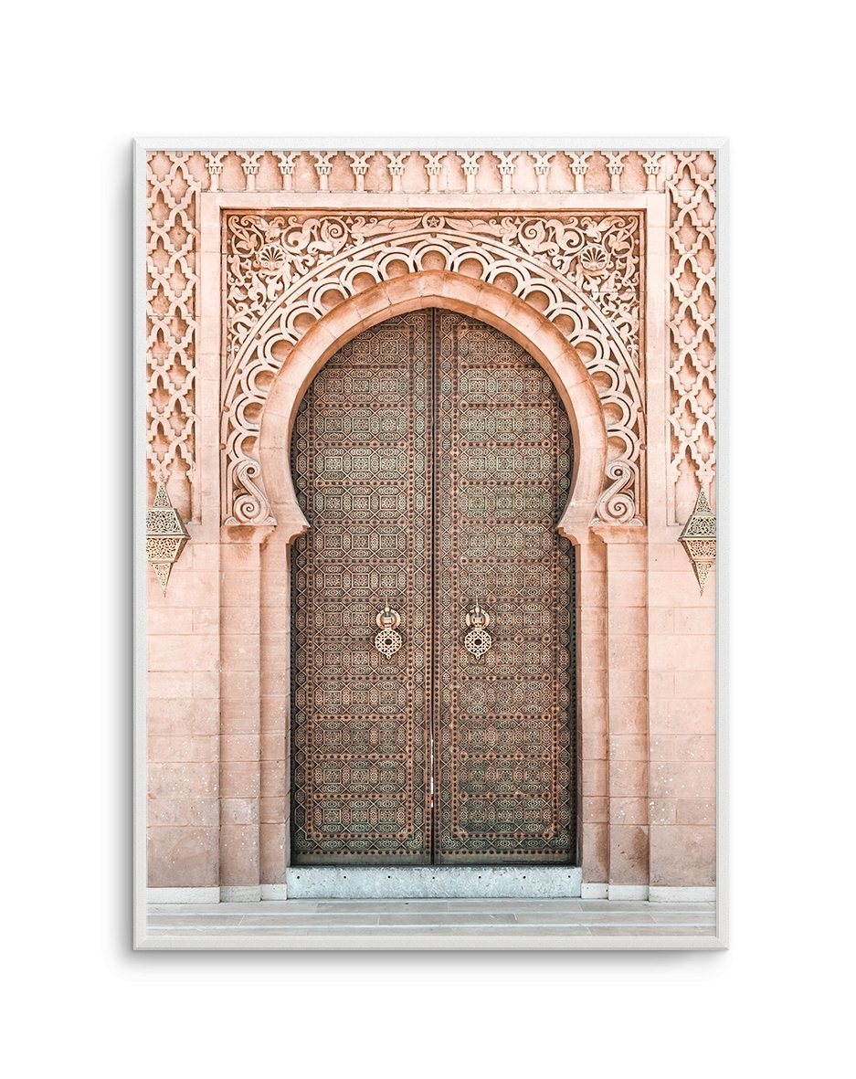Moroccan Door | Blush - Olive et Oriel | Shop Art Prints & Posters Online
