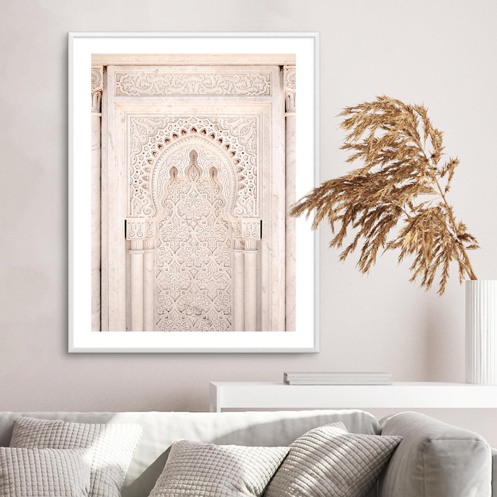 Moroccan Doorway in Nude - Olive et Oriel | Shop Art Prints & Posters Online