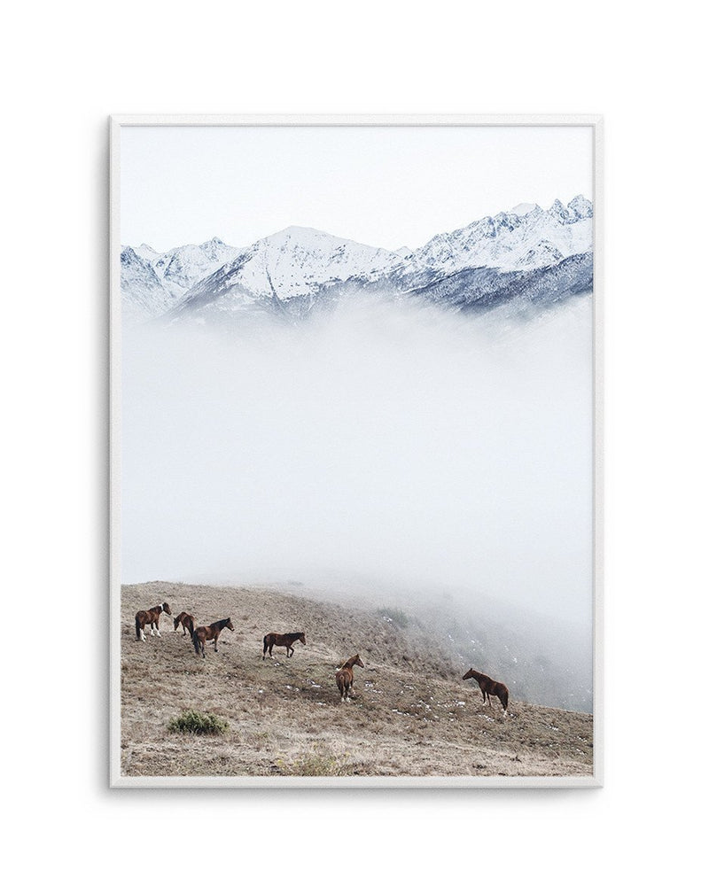 Mountain Horses | Portrait - Olive et Oriel | Shop Art Prints & Posters Online