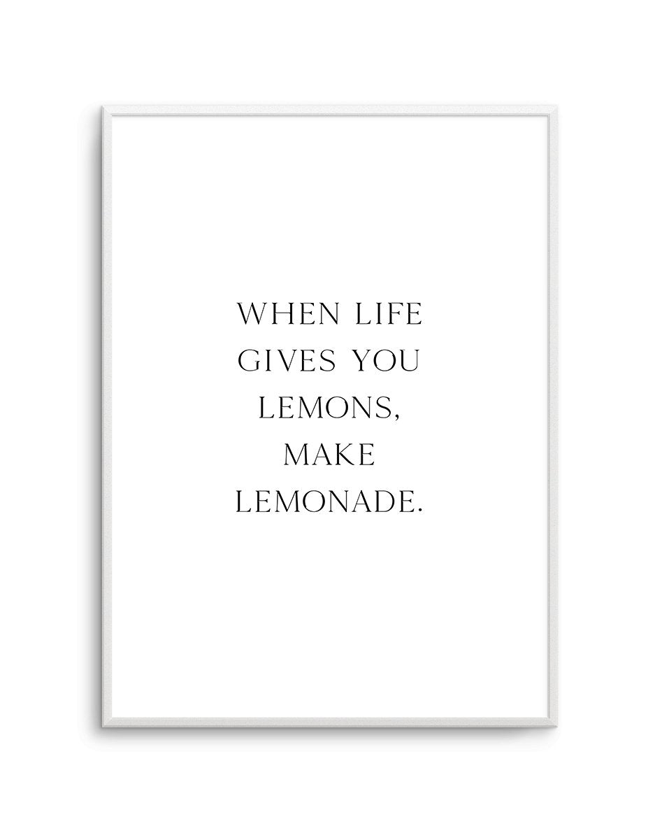 Naked Lemonade - Olive et Oriel | Shop Art Prints & Posters Online