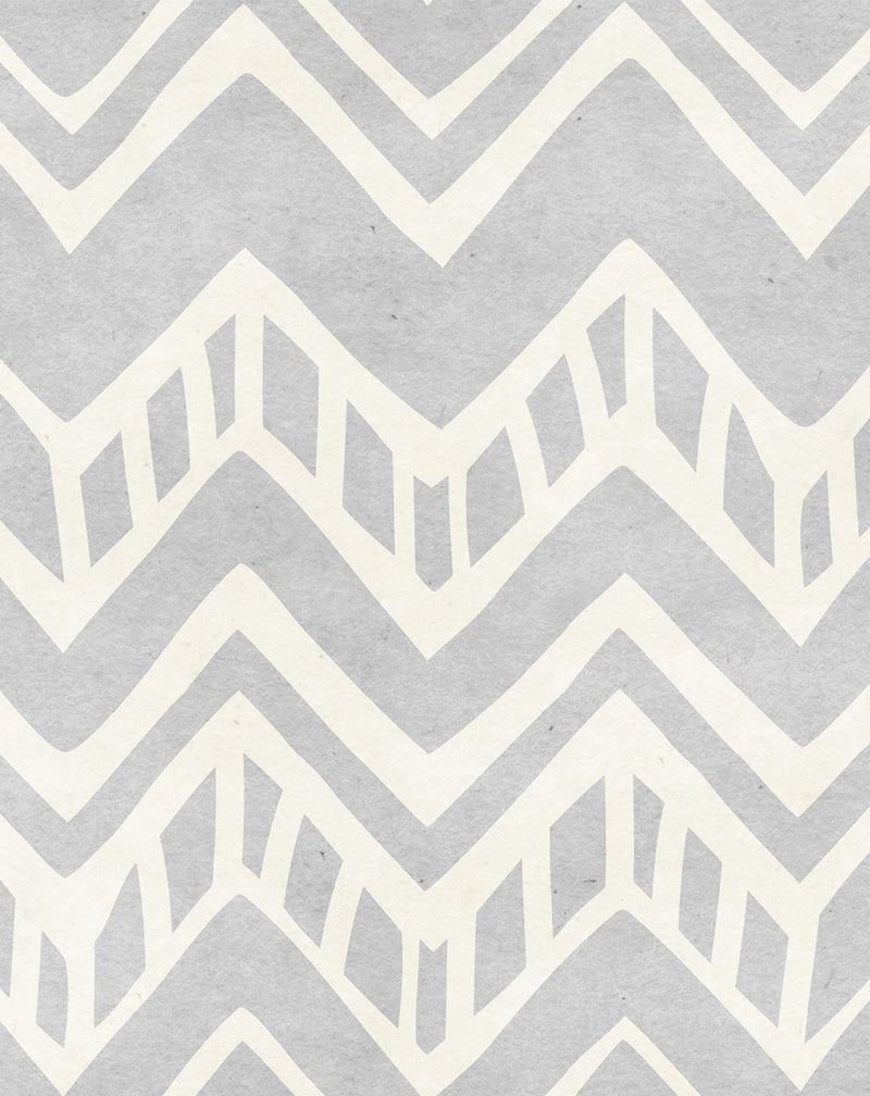 Navajo in Textured Grey Wallpaper - Olive et Oriel