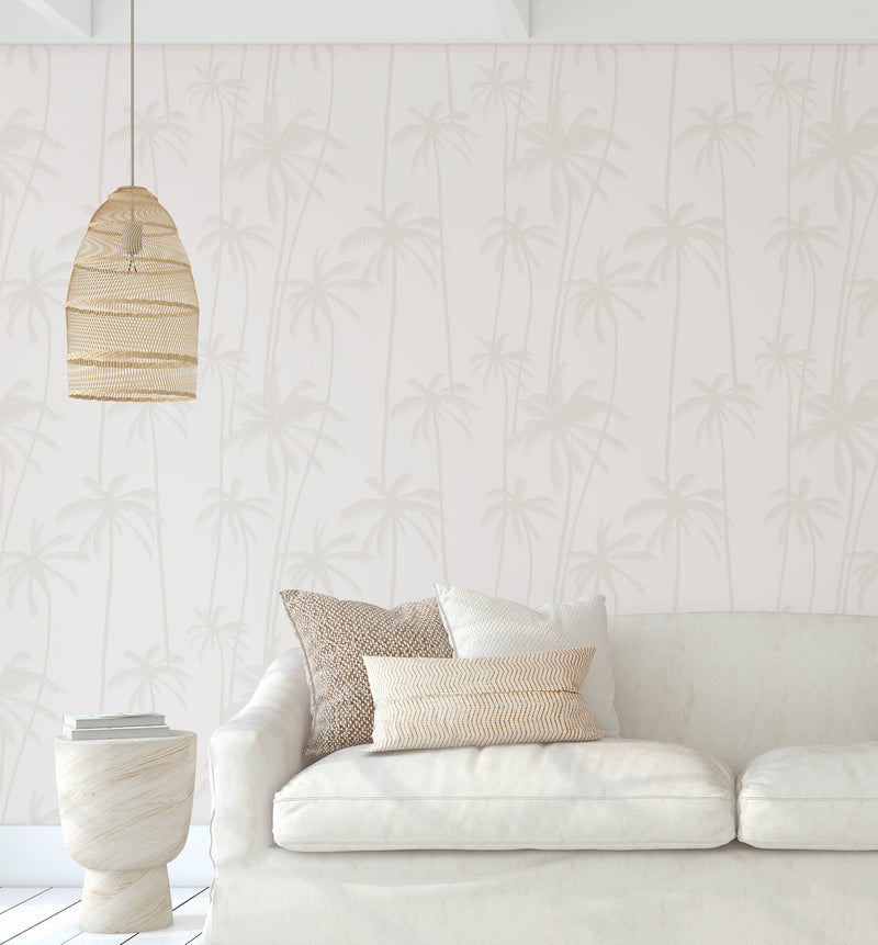 Neutral Palms Wallpaper - Olive et Oriel