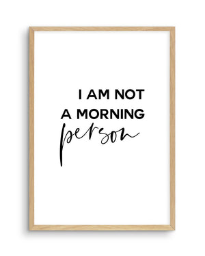 Not A Morning Person - Olive et Oriel