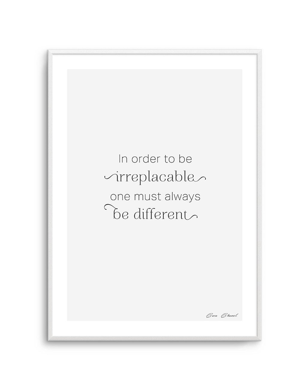 One Must Always Be Different - Olive et Oriel