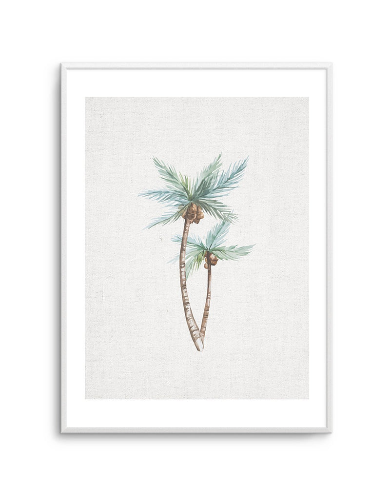 Palms on Linen No I - Olive et Oriel