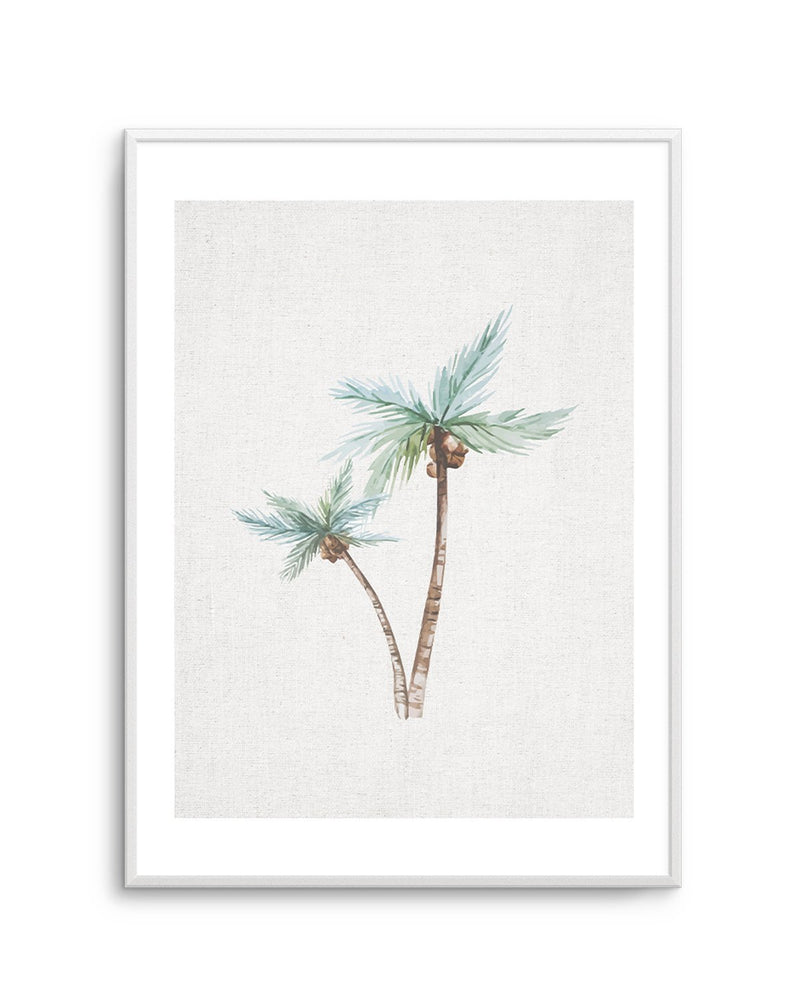 Palms on Linen No II - Olive et Oriel