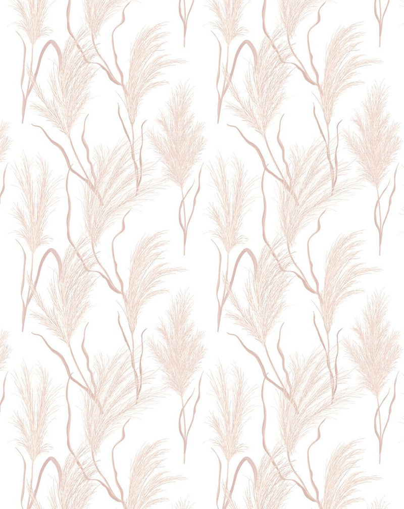 Pampas in the Wind Wallpaper - Olive et Oriel