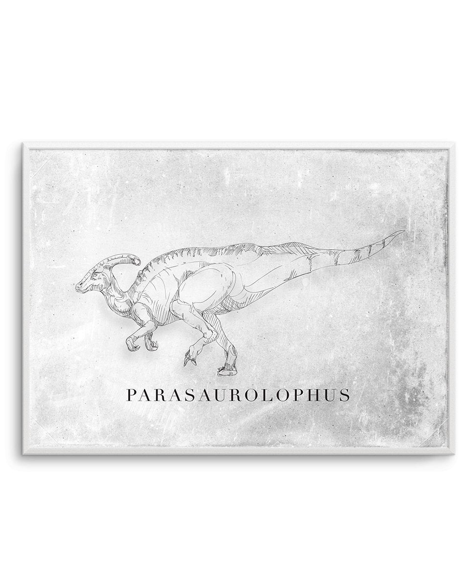 Parasaurolophus LS | Dinosaur Collection - Olive et Oriel | Shop Art Prints & Posters Online