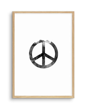 Peace Sign | Black Watercolour - Olive et Oriel
