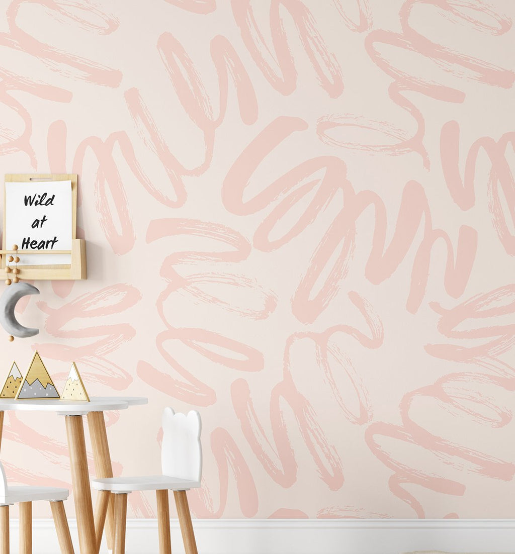 Peachy Graffiti Wallpaper - Olive et Oriel