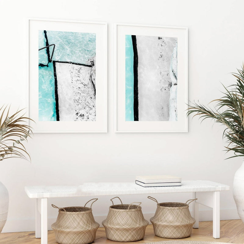 Perfect Pair: Icebergs Abstract I & II - Olive et Oriel