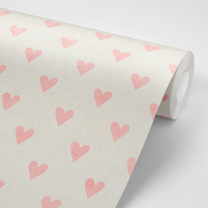 Pink Hearts Wallpaper - Olive et Oriel