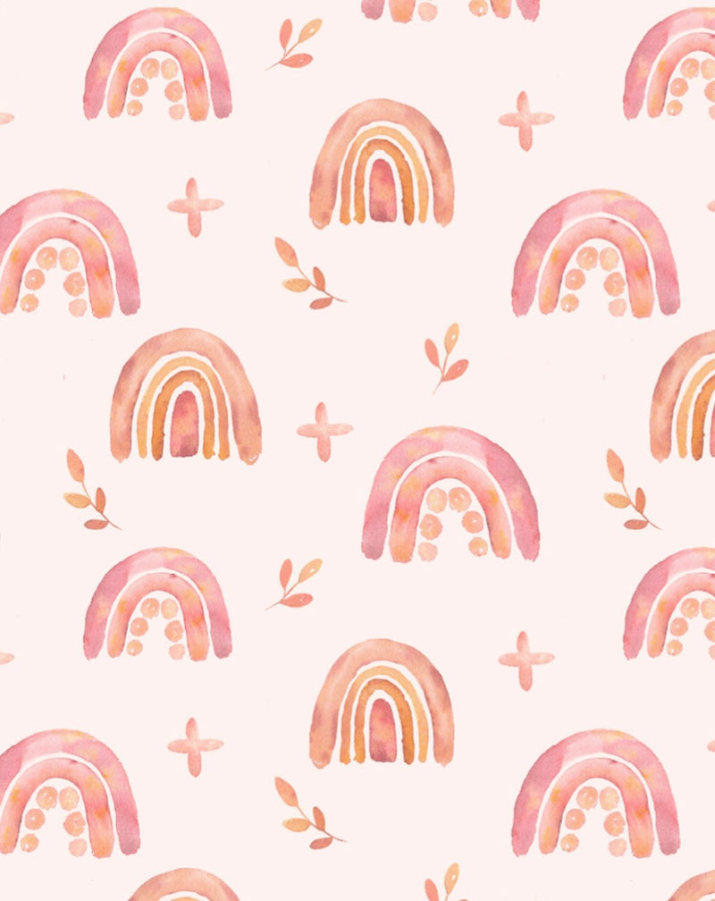 Pink Pop Rainbows Wallpaper - Olive et Oriel