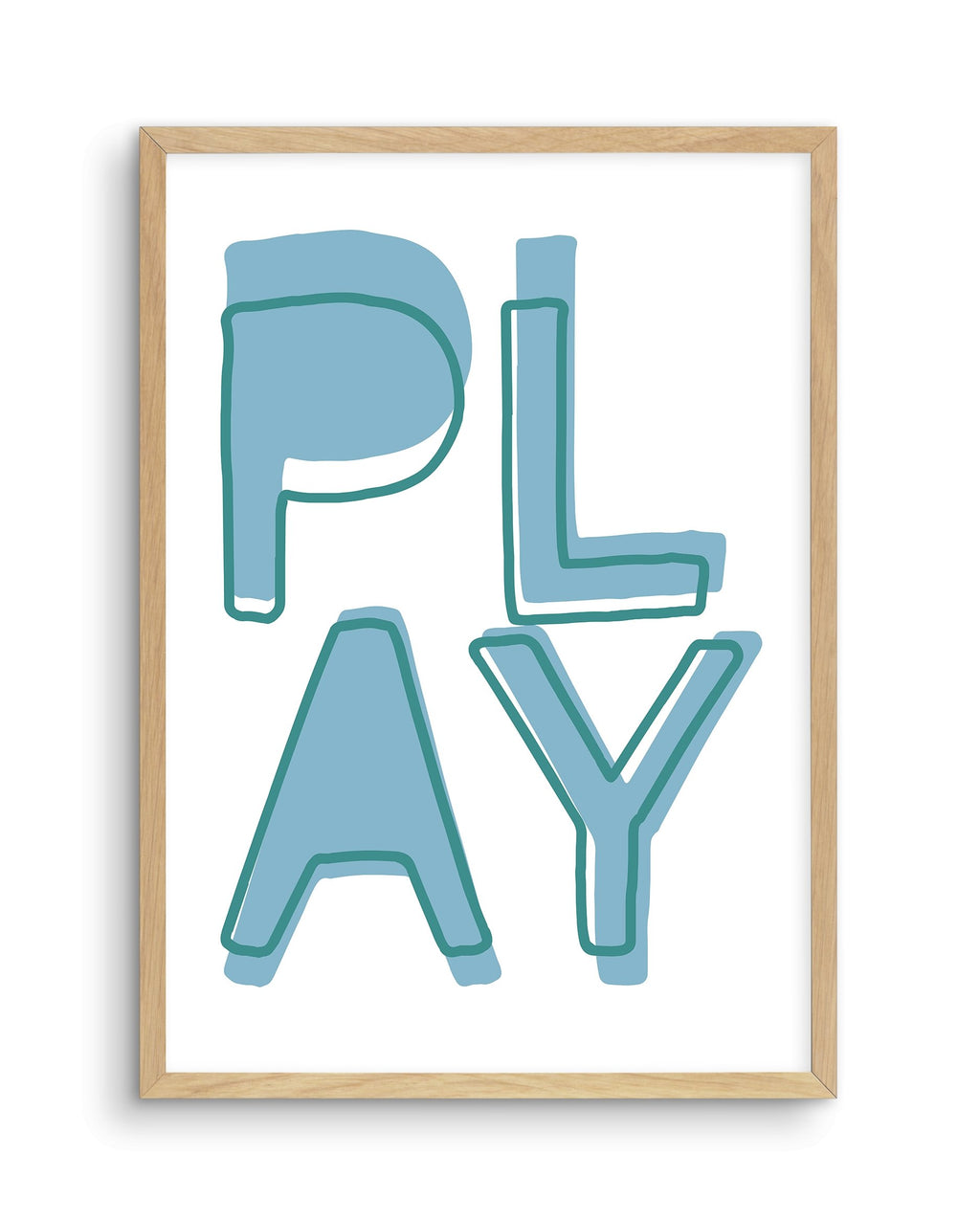 Play | Blue - Olive et Oriel | Shop Art Prints & Posters Online