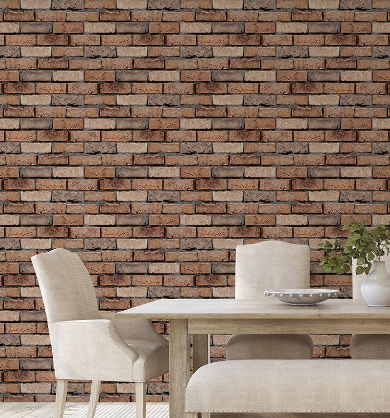 Red Brick Wallpaper - Olive et Oriel