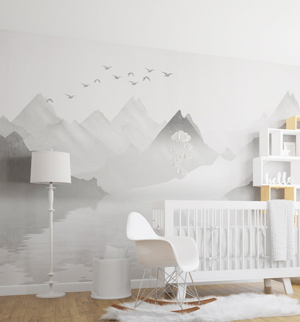 Reflections Wallpaper Mural - Olive et Oriel