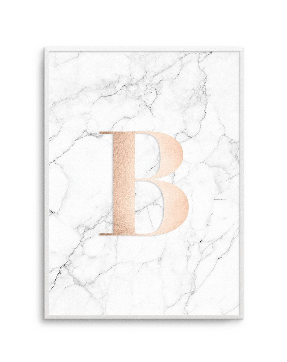 Rose Gold + Marble Custom Letter - Olive et Oriel | Shop Art Prints & Posters Online