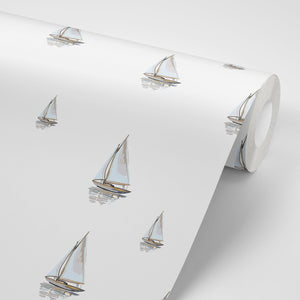 Sailing Boats Wallpaper - Olive et Oriel