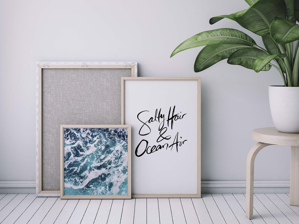 Salty Hair & Ocean Air | Hand scripted - Olive et Oriel | Shop Art Prints & Posters Online