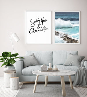 Salty Hair & Ocean Air | Hand scripted - Olive et Oriel