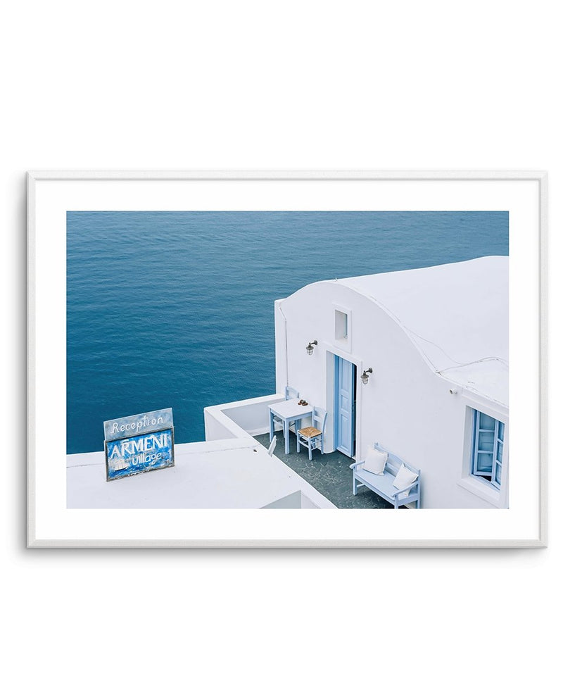 Santorini Blues LS - Olive et Oriel | Shop Art Prints & Posters Online