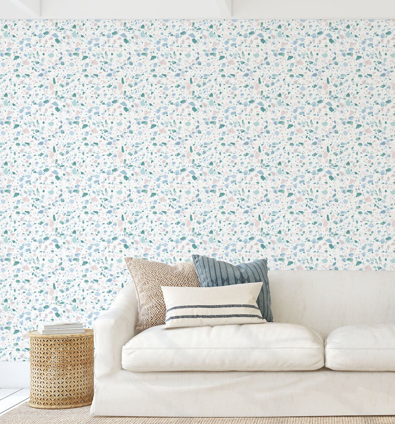 Sea Glass Terrazzo Wallpaper - Olive et Oriel