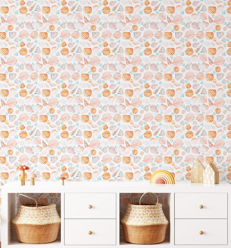 Seashells Wallpaper - Olive et Oriel