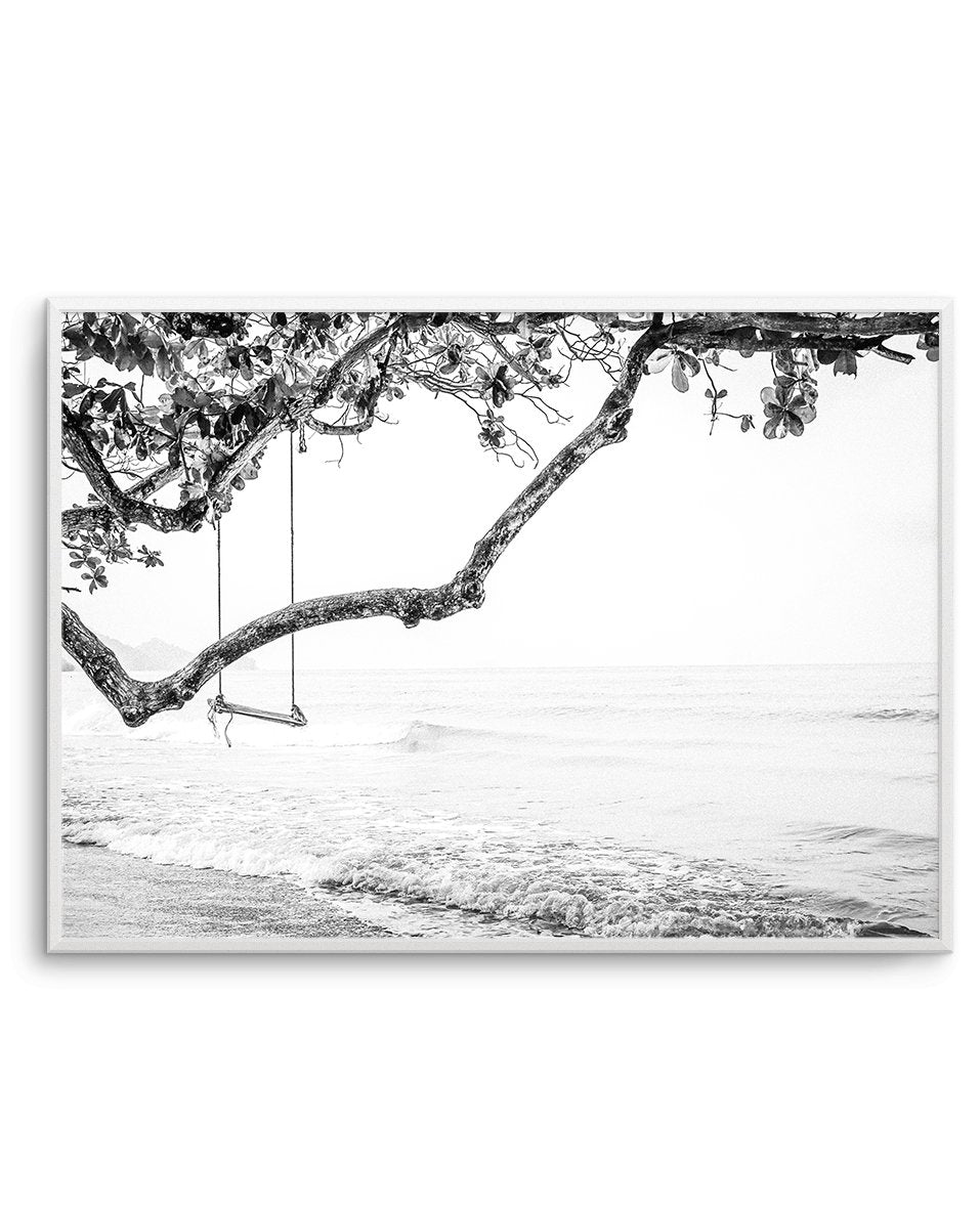 Seaside Bliss | B&W - Olive et Oriel | Shop Art Prints & Posters Online