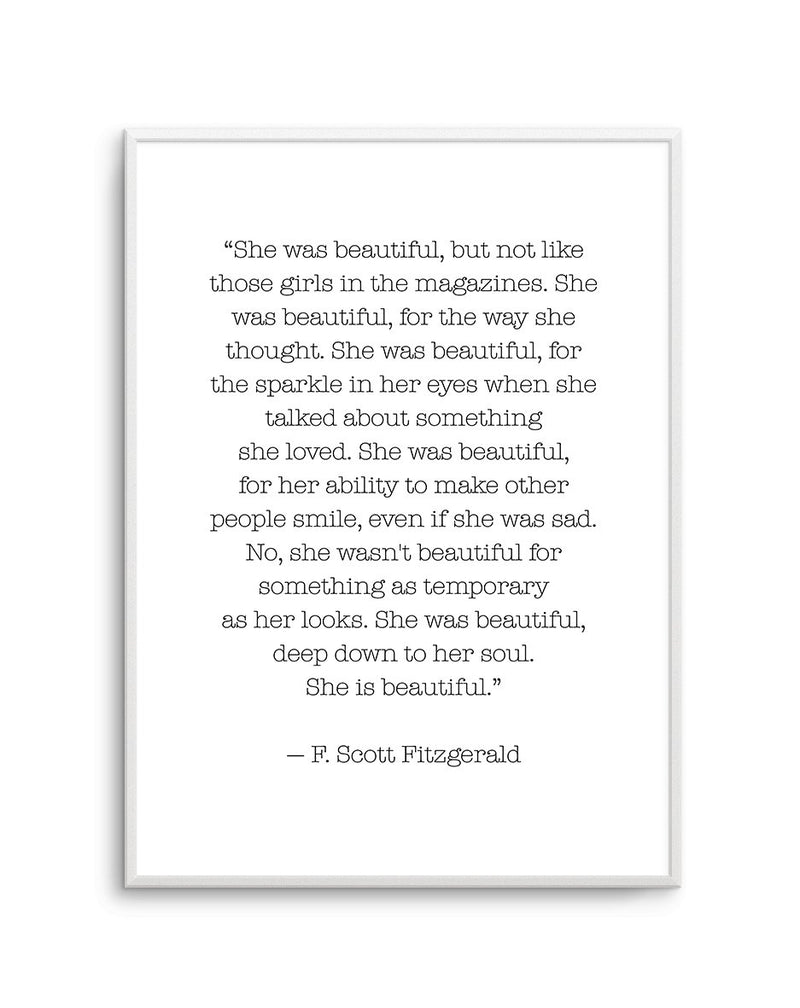 She Was Beautiful Quote - Olive et Oriel | Shop Art Prints & Posters Online