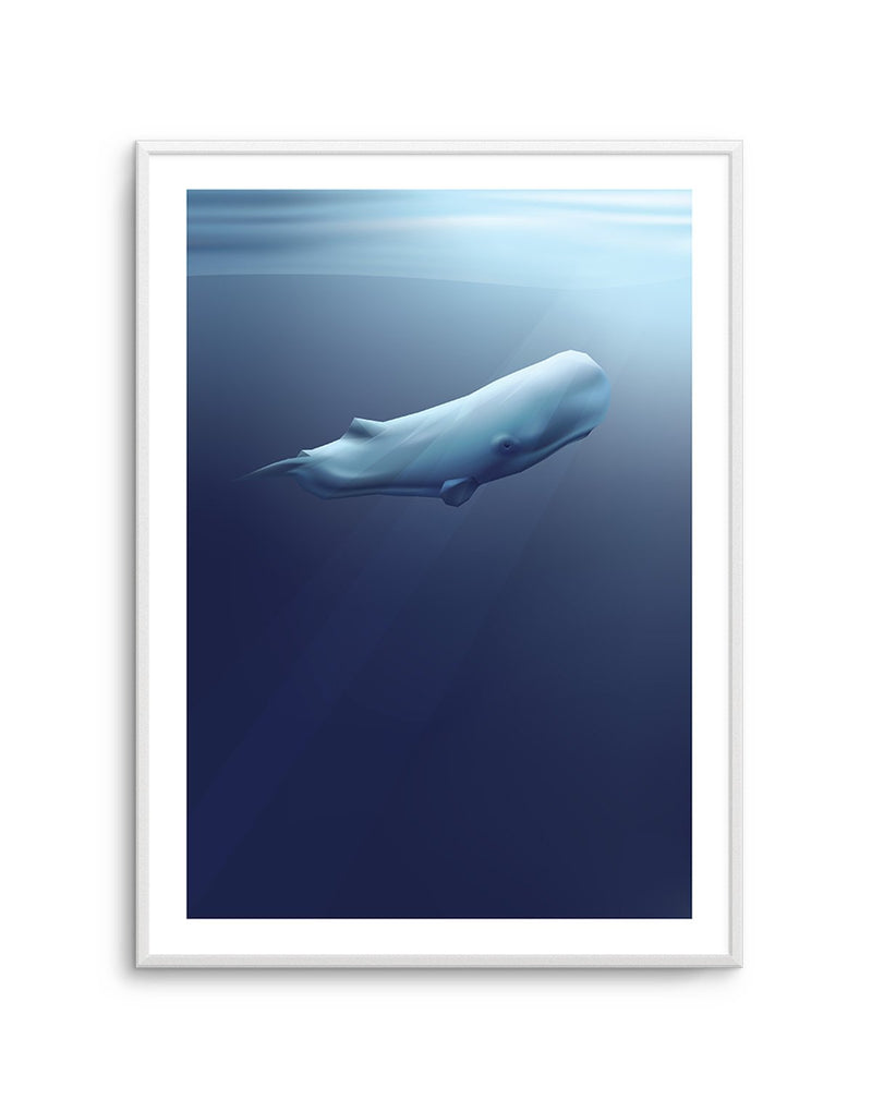 Sperm Whale | Graphic Whales Collection - Olive et Oriel