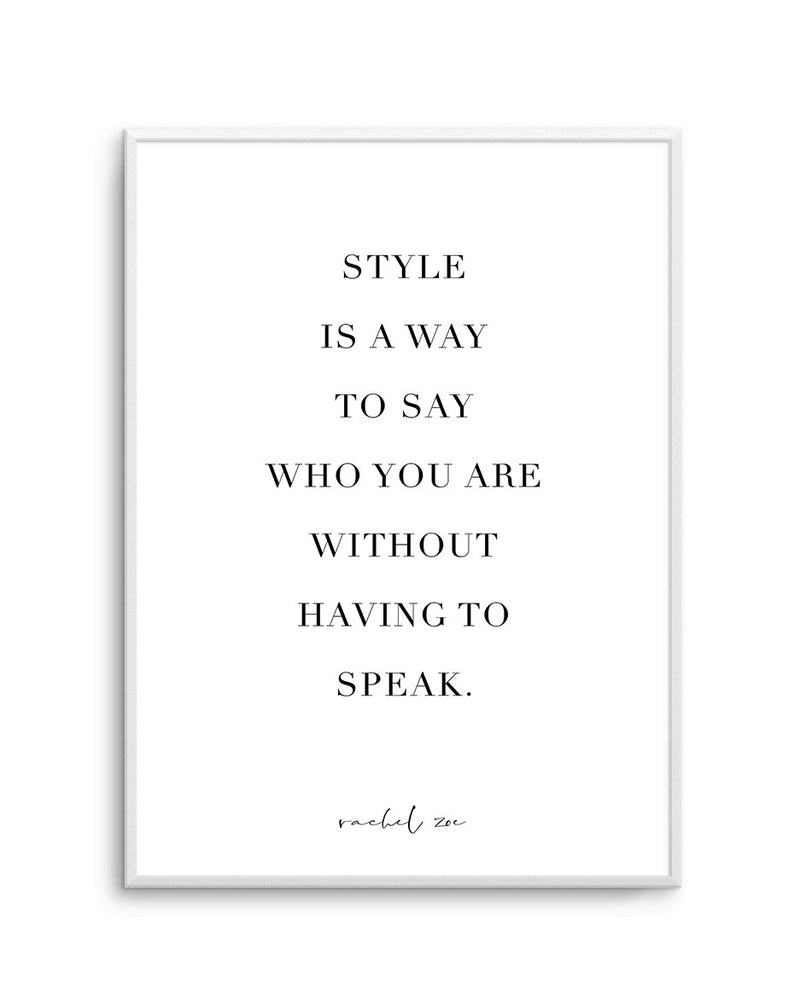 Style Is A Way - Olive et Oriel