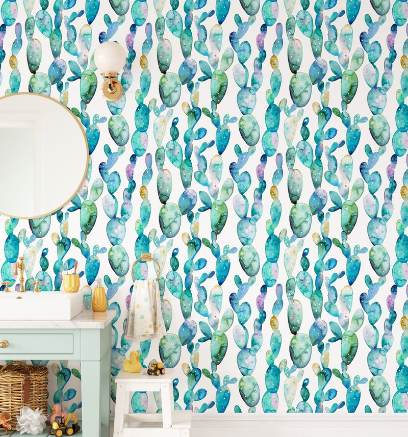 Super Fun Cactus Wallpaper - Olive et Oriel
