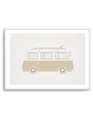 Surf Van on Linen - Olive et Oriel