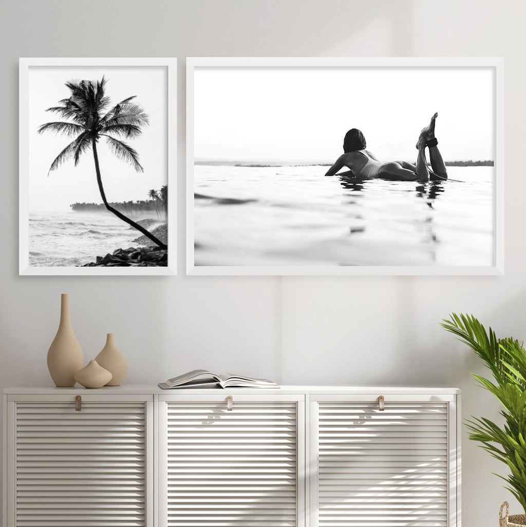 Surfer Girl | Black & White LS - Olive et Oriel