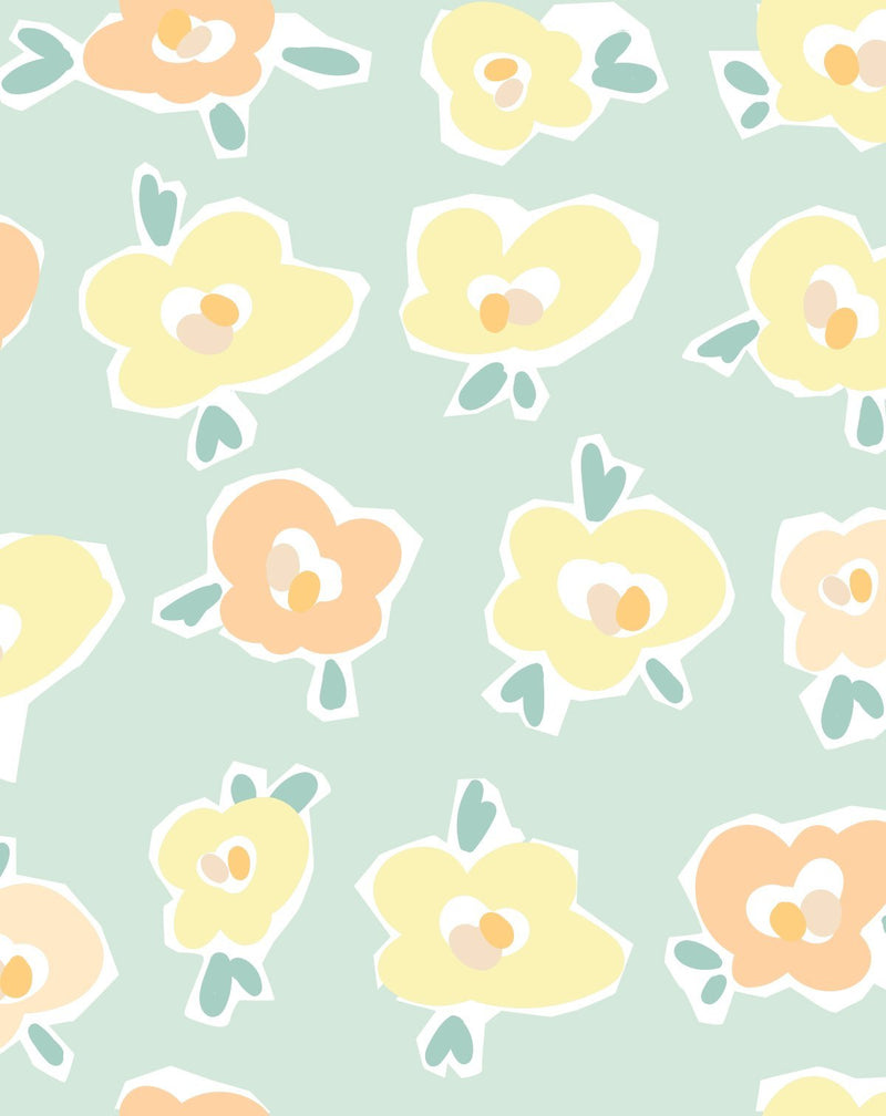 Sweetpea Wallpaper - Olive et Oriel