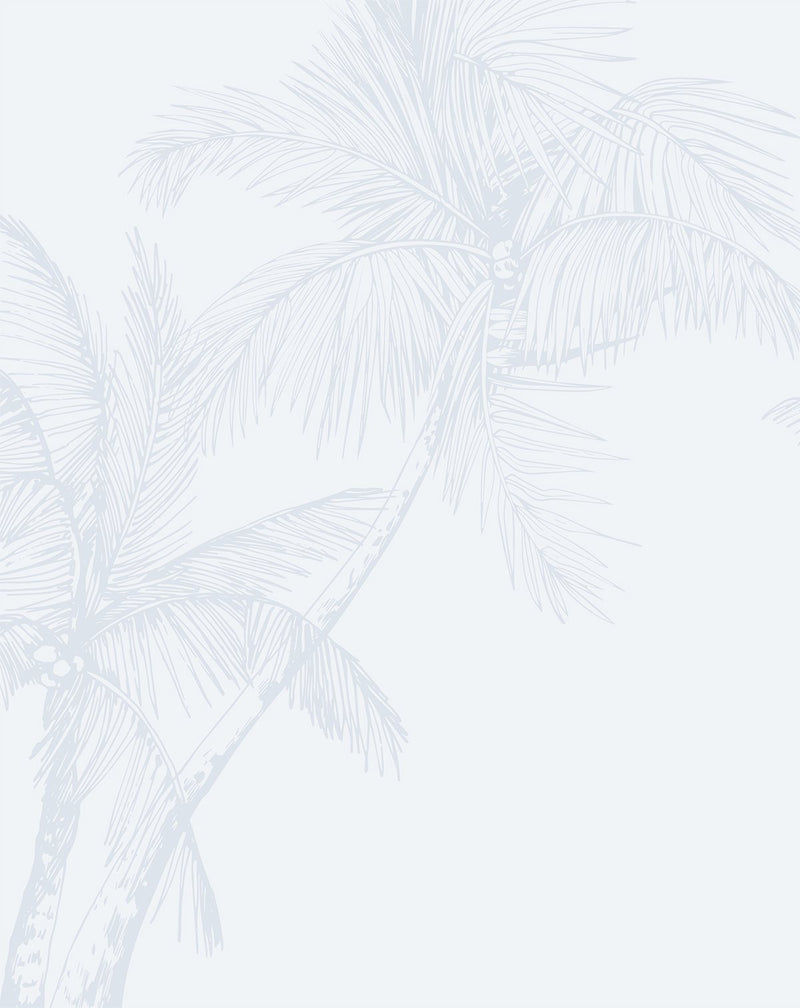 The Palms Wallpaper in Duck Egg Blue - Olive et Oriel