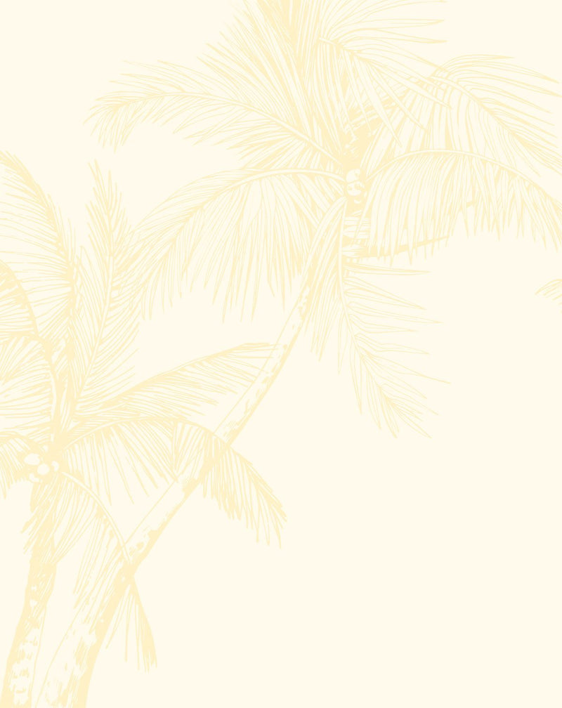 The Palms Wallpaper in Lemon - Olive et Oriel